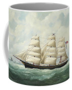 The American Ship Olive S Southard Of San Francisco In French Waters Off Le Havre Coffee Mug