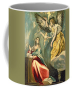 The Annunciation, C.1595-1600 Oil On Canvas Coffee Mug