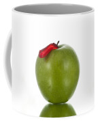 The Apple And The Worm Coffee Mug