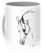 The Arabian Horse Sketch Coffee Mug