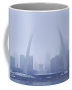 The Arch In Snow And Fog Coffee Mug