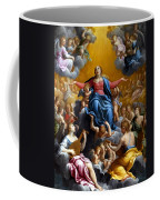 The Assumption Of The Virgin Mary Coffee Mug by Guido Reni
