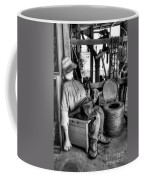 The Aussie Dunny Can - Black And White Coffee Mug