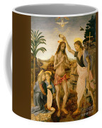 The Baptism Of Christ By John The Baptist Coffee Mug by Leonardo da Vinci