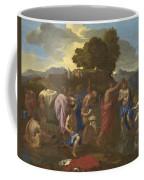 The Baptism Of Christ Coffee Mug by Nicolas Poussin