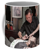 The Barber Shaves Another Customer 02 Coffee Mug