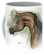 The Bay Arabian Horse 12 Coffee Mug