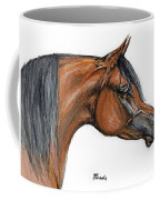 The Bay Arabian Horse 18 Coffee Mug