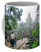The Bayon In Angkor Thom In Angkor Wat Archeological Park-cambodia Coffee Mug