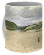 The Beach At Ambleteuse, 1869 Oil On Canvas Coffee Mug