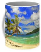The Beach At Anse Gaulettes Coffee Mug