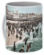 The Beach At Atlantic City 1902 Coffee Mug