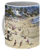 The Beach At Laguna Coffee Mug