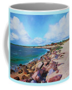 The Beach At Ponce Inlet Coffee Mug by Deborah Boyd
