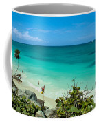 The Beach At The Tulum Ruins Coffee Mug
