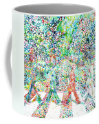 The Beatles - Abbey Road - Watercolor Painting Coffee Mug
