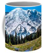 The Beautiful Mount Rainier At Sunrise Park Coffee Mug