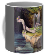 The Beautiful Narcissus Coffee Mug by Honore Daumier