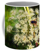 The Bee And The Flowers At Troldhaugen Coffee Mug