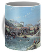The Beginning Of Sea Swimming In The Old Port Of Biarritz  Coffee Mug by Jean Jacques Alban de Lesgallery