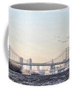 The Ben Franklin Bridge From Penn Treaty Park Coffee Mug