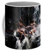 The Birth Of The Double Star. Anna At Eureka Waterfalls. Mauritius. Tnm Coffee Mug
