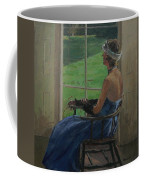 The Blue Dress, 2009 Oil On Canvas Coffee Mug