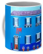 The Blue House Burano Coffee Mug
