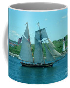 American Tall Ship Sails Past Mcnabs Island Coffee Mug