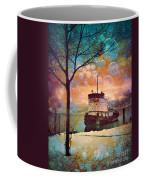 The Boat In Winter Coffee Mug