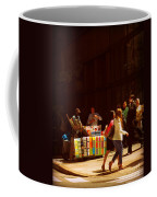 The Bookseller - New York City Street Scene - Street Vendor Coffee Mug