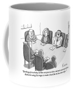 The Boss At An Executive Meeting Points Out An Coffee Mug by Zachary Kanin