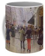 The Boulevard Des Capucines And The Vaudeville Theatre Coffee Mug