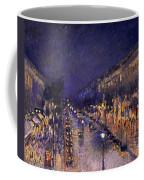 The Boulevard Montmartre At Night Coffee Mug