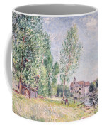 The Builder's Yard At Matrat Moret-sur-loing Coffee Mug by Alfred Sisley
