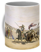 The Bull Following Up The Charge, 1865 Coffee Mug