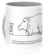 The Bunny Did Not Get The Job Because The Bunny Coffee Mug by Charles Barsotti