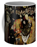 The Burial Of Count Orgaz From A Legend Of 1323 Detail Of A Young Page Coffee Mug