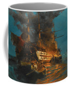The Burning Of A Turkish Frigate Coffee Mug