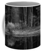 The Bush By The Lake Bw Coffee Mug