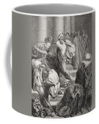 The Buyers And Sellers Driven Out Of The Temple Coffee Mug by Gustave Dore