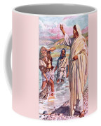 The Call Of Andrew And Peter Coffee Mug by Harold Copping
