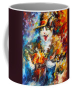 The Cat And The Guitar Coffee Mug