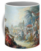 The Chinese Fair, C.1742 Oil On Canvas Coffee Mug