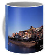The Church Of St Mary's And Whitby Abbey North Yorkshire England Coffee Mug
