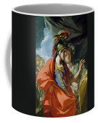 The Clemency Of Alexander The Great 356-323 Bc In Front Of The Family Of Darius IIi D.330 Bc Oil Coffee Mug