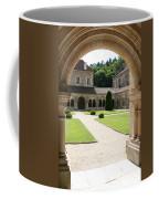 The Cloister Courtyard - Cloister Fontenay Coffee Mug