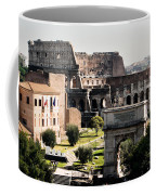 The Colosseum Through The Forum Coffee Mug