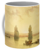 The Colossi Of Memnon Coffee Mug by David Roberts