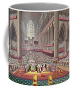 The Coronation Of King William Iv And Queen Adelaide, 1831 Colour Litho Coffee Mug
